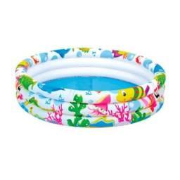 Piscina inflável 100 litros redonda Summer Fun boia calor brinquedo
