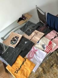 Lote 10 camisetas surf/skate