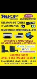 consertos controles ,video games,impressoras,recargas cartuchos