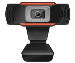 Webcam 1080P Fullhd USB com microfone Plug and Play para videochamada para PC e Notebook