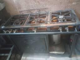 Fogão industrial 3 bocas c forno