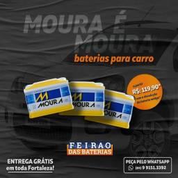 Título do anúncio: Bateria com Garantia Seminova de 60ah, Frete e Instalação Grátis