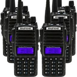 <br> Rádio Comunicador Baofeng Walk Talk Lote 6 Uv-82 Dual Band Rádio Fm 0
