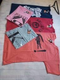 Camisa 100% Algodão apenas R$ 24,99 avista. No cartão 34,90.