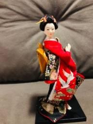 Boneca Oriental- estátua de gueixa