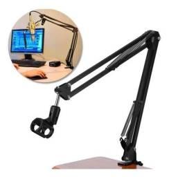 Braço Articulado Suporte Microfone De Mesa Profissional, entregamos