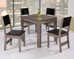 Título do anúncio: Mesa com 4 Cadeiras - Lacrado de Fábrica