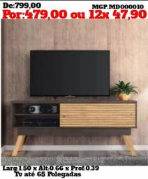 Rack de televisão até 65 Plg- Rack de TV- Estante de TV-Saldão em MS