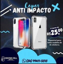 Capa transparente anti impacto todas as marcas