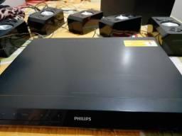 Título do anúncio: Vendo home theather blu-ray 3D COMPLETO.800 RMS de volume