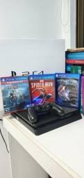 Playstation 4 Slim - 1TB + 3 jogos mídia física