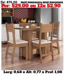 Conjunto de Mesa de 4 Cadeira - Mais Barato q na Loja - Direto da Fabrica
