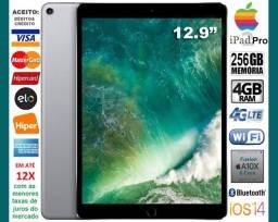 "Tablet iPad Pro 2 256GB, Tela 12.9"", Octa Core, Wi-Fi+4G, GPS, Novíss, Caixa, NF, Troco"