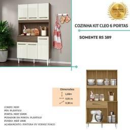 Armário cozinha kit cleo seis poirtas 74
