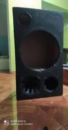 Caixa de som dutada para auto falante de 12 polegadas