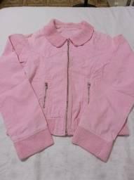 Casaco rosa em jeans TAM 38 (P)
