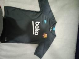 Camisa De Treino Barcelona - Tamanho L - Original