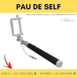 Pau de Self Bastão Monopod para Selfie Retrátil Barato