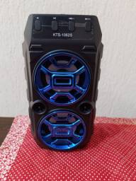Caixa de som super potente Speaker BK-019 com LED Micro SD, radio, USB, Auxiliar,