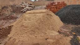 Areia , Aterro  e Pedra brita