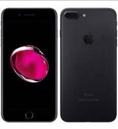 Título do anúncio: Vendo iPhone 7 plus na cor Black, 128 GB