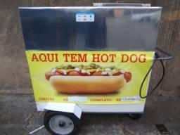 Carrinho para venda de Hot Dog