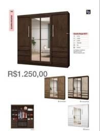 ´Guarda roupa seis portas espelhões 311