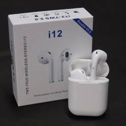 Fone de ouvido bluetooth i12 portátil
