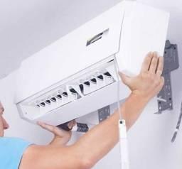 Instalação de Ar Condicionado Split 9.000 btus - R$ 350,00 - 06 x Cartão