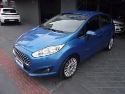 Ford New Fiesta Hatch 1.6 Titanium Automático Flex 2013/2014 Azul Cód. 9325