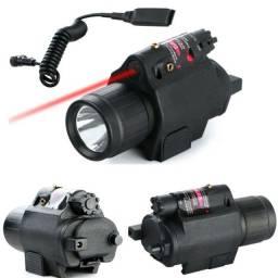 Combo lanterna de led + ponto de luz vermelho