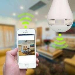 Lâmpada Espiã Inteligente C/ Câmera de Monitoramento 360