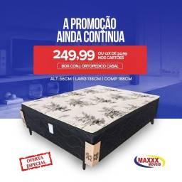 CAMA BOX CONJ. ORTOPÉDICO CASAL/SOLTEIRO