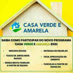 W| Cadastro ->CASA VERDE & AMARELA| #Financiamento #Facilitado