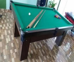 Mesa de Redinha Cor Tabaco Tecido Verde Mod. VWUJ7259