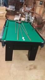 Mesa de Redinha Cor Preta Tecido Verde Mod. NQCS7001