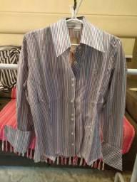 Camisa Paola Trevisol geométrica