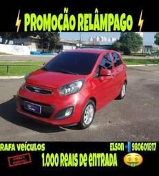 Promoção relâmpago kia picanto 1.0 ex 2013 com r$ 1.000 mil de entrada - 2013