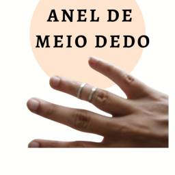 Anel meio dedo inox