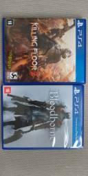 2 jogos PS4 bloodborne + killing floor 2