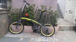 Bicicleta Dobrável circuito pedalar