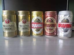 Lote Com 10 Latas De Cerveja Nacional Brahma Coleção Anos 90