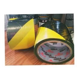 A Fita Zebrada Preto/Amarelo 7 cm x 100 m - Worker