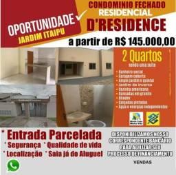Casa em Condomínio 2 quartos - Residencial Itaipu - Minha Casa Minha Vida