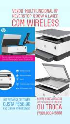 Multifuncional HP Neverstop 1200W a Laser com Wireless