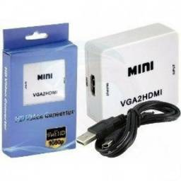 Adaptador Conversor VGA / HDMi Com Entrada De Audio P2