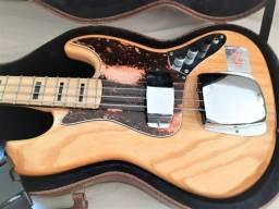 Contrabaixo SX Jass Bass Sjb75c Natural Com Cobertura Ponte
