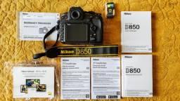 Nikon D850 + Lente Nikon 28-300 Semi novos