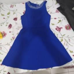Vestido azul - Médio - usado apenas 2 vezes