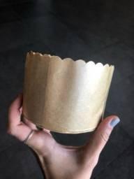 Forma panetone 250g - mini forma de papel - 100 unidades